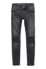Super Skinny Trashed Jeans - Noir washed out - HOMME | H&M FR 2